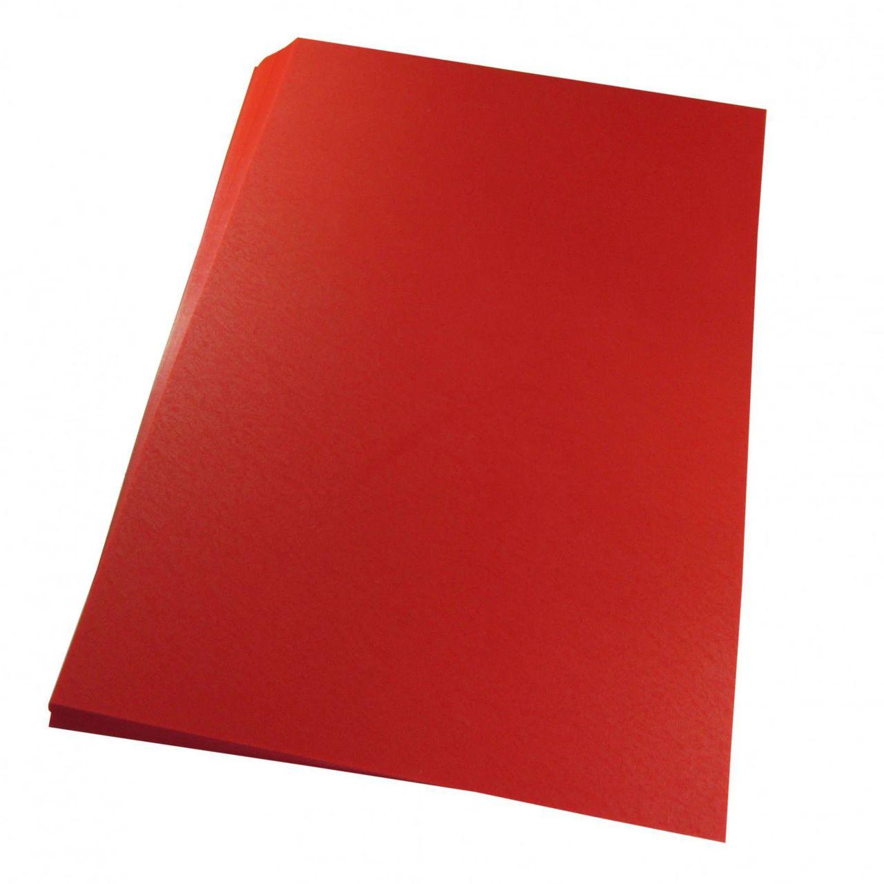 Capa para encadernação Ofício Vermelha PP Couro 0,30mm 100un