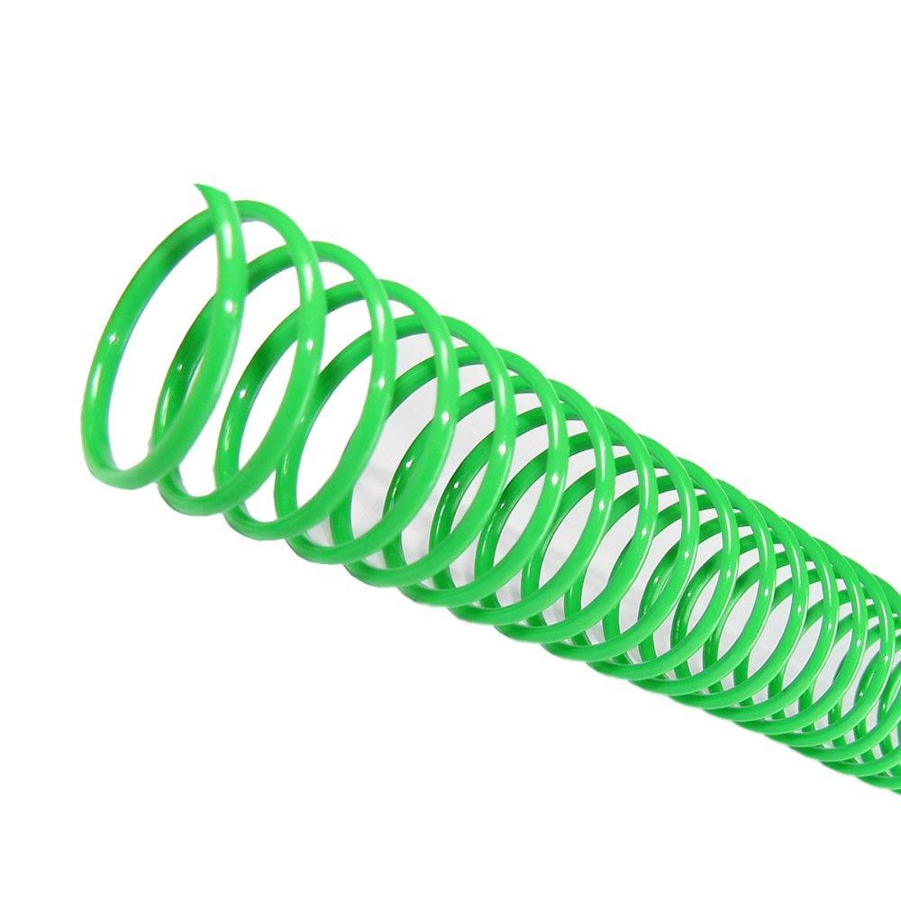 Espiral para Encadernação Verde 20mm 120 Folhas 70 und