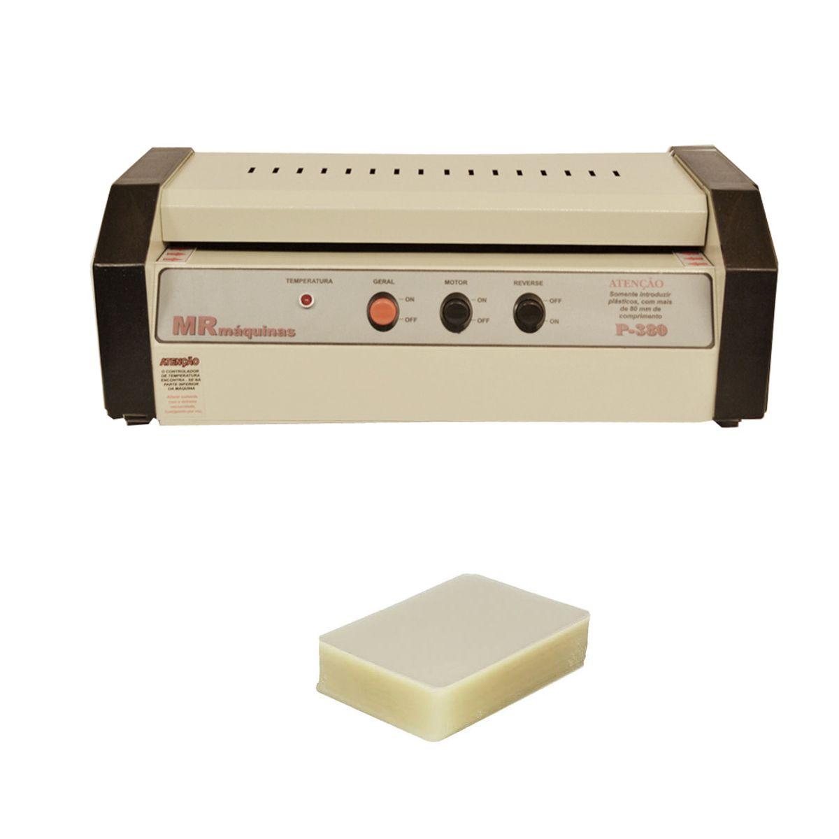 Kit Plastificadora Profissional P380 + 100 Polaseal (A3)