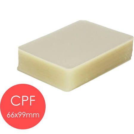 Polaseal plástico para plastificação CPF 66X99 0,10mm 100un