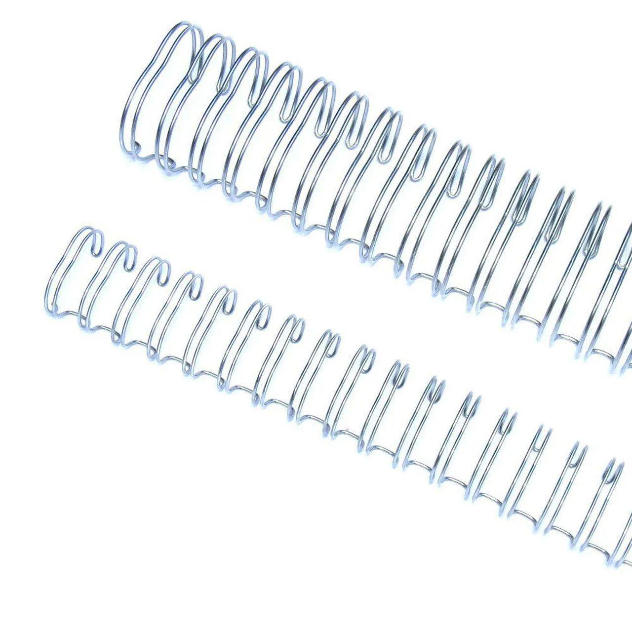 "Wire-o 1""1/4 para 270 fls Ofício 2x1 Prata(Silver) 25 und"