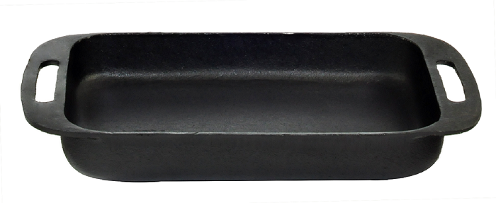 Assadeira Retangular Alça Ferro Fundido Santana 37x22x5 Cm