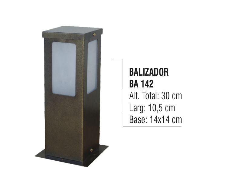 Balizador Colonial para Jardim em Tubo de Alumínio N03 30cm