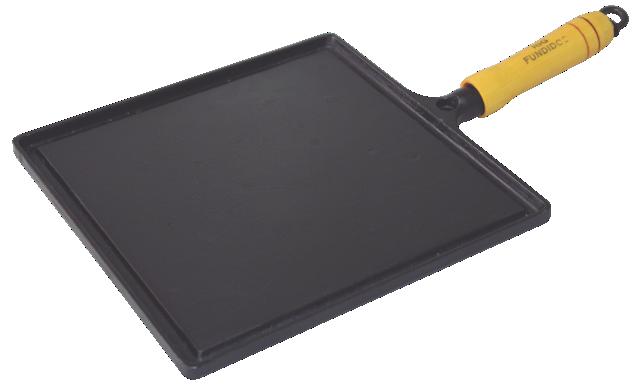 Bifeteira De Ferro Fundido Quadrada Lisa - Medidas 25x25cm