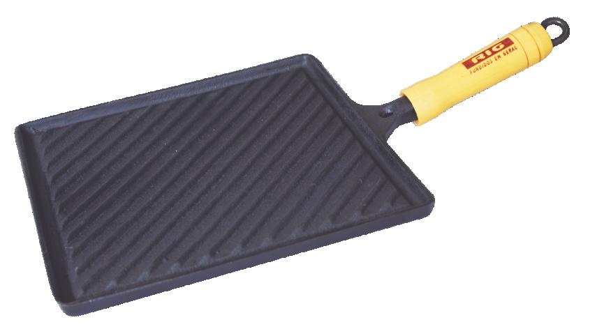 Bifeteira Ferro Fundido Quadrada Frisada - Medidas 22x22cm