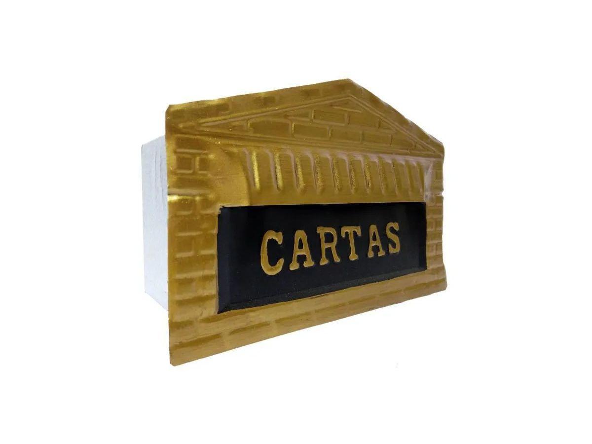 Caixa Correio Tijolinho Aço Carbono 15x25x12cm