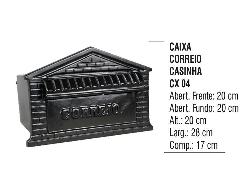 Caixa de Correio Colonial Casinha em Alumínio Fundido