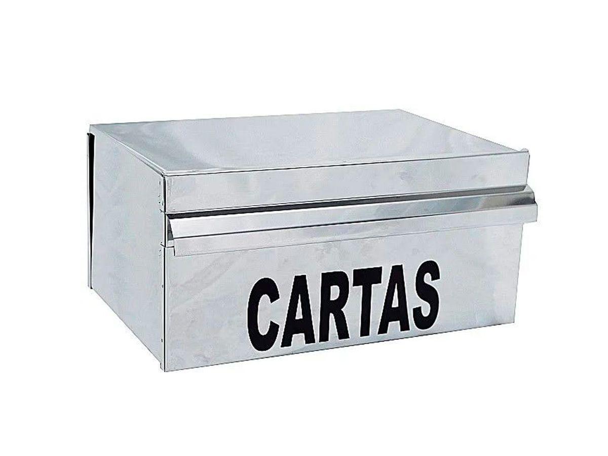 Caixa de Correio Modelo Inox Popular Cartas 15x25cm