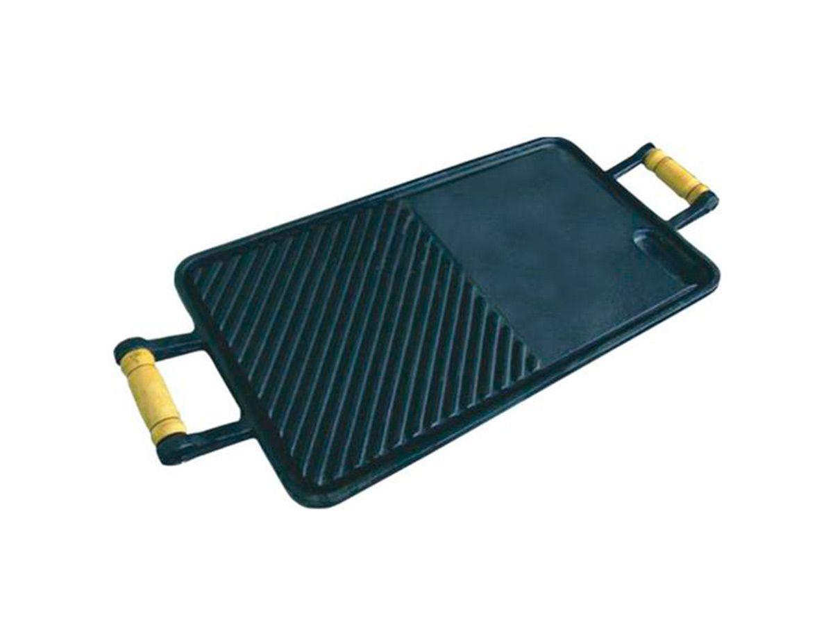 Chapa Lisa/frisada de Ferro Fundido - Medidas 25x45cm