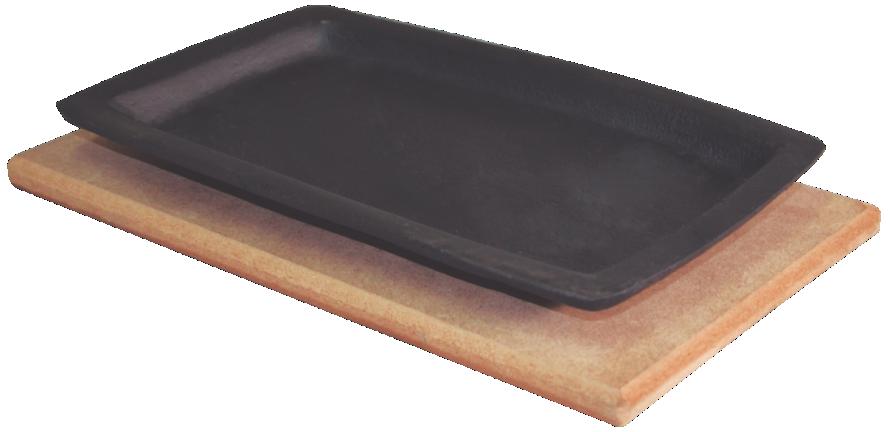 Chapa Tepan 18x28 Cm De Ferro Fundido Com Aparador