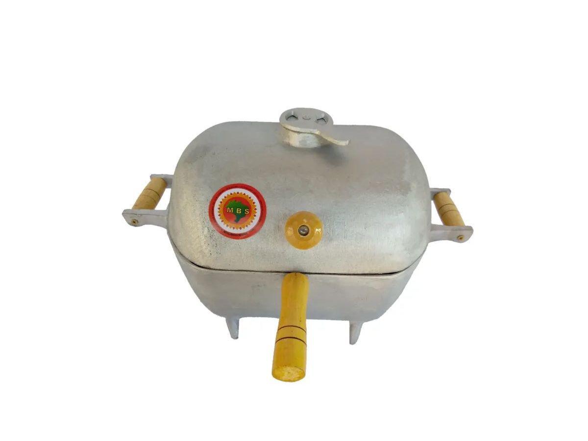 Churrasqueira Bafinho Alumínio Redonda Pequena 30x32x25cm