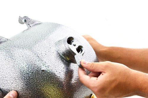 Churrasqueira Média A Bafo Alumínio Fundido Craqueada Prata
