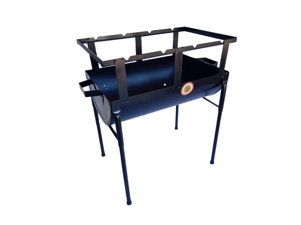Churrasqueira Prática Chapa De Aço Carbono 50x29cm