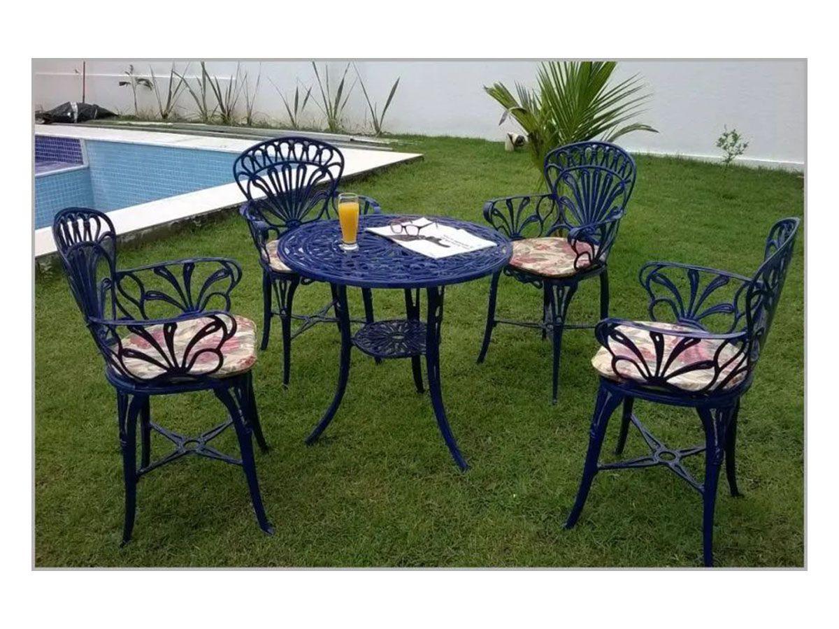Conjunto Externo/interno Primavera 05 Peças Mesa e Cadeiras