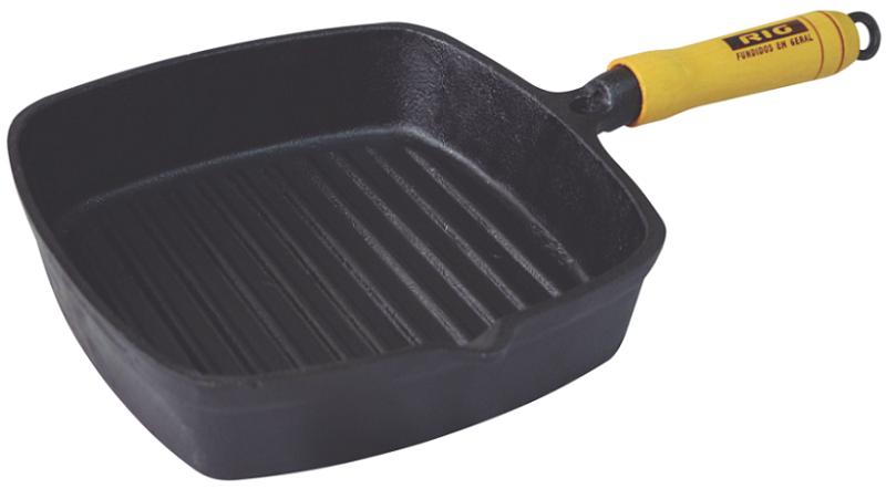 Frigideira Ferro Fundido Frisada Cook Grill - 22x22cm