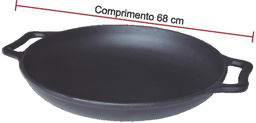 Frigideira Paella De Ferro Fundido Sem Tampa - Diametro 60cm