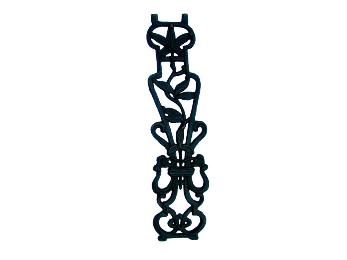 Grade de Ferro Fundido Flor de Lírio Curva Varanda 80x18cm