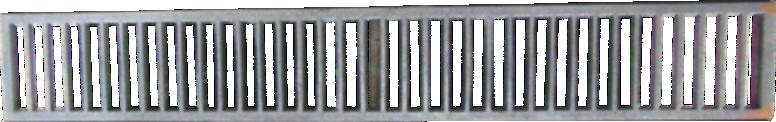 Grelha De Ferro - Tamanho 25x100cm