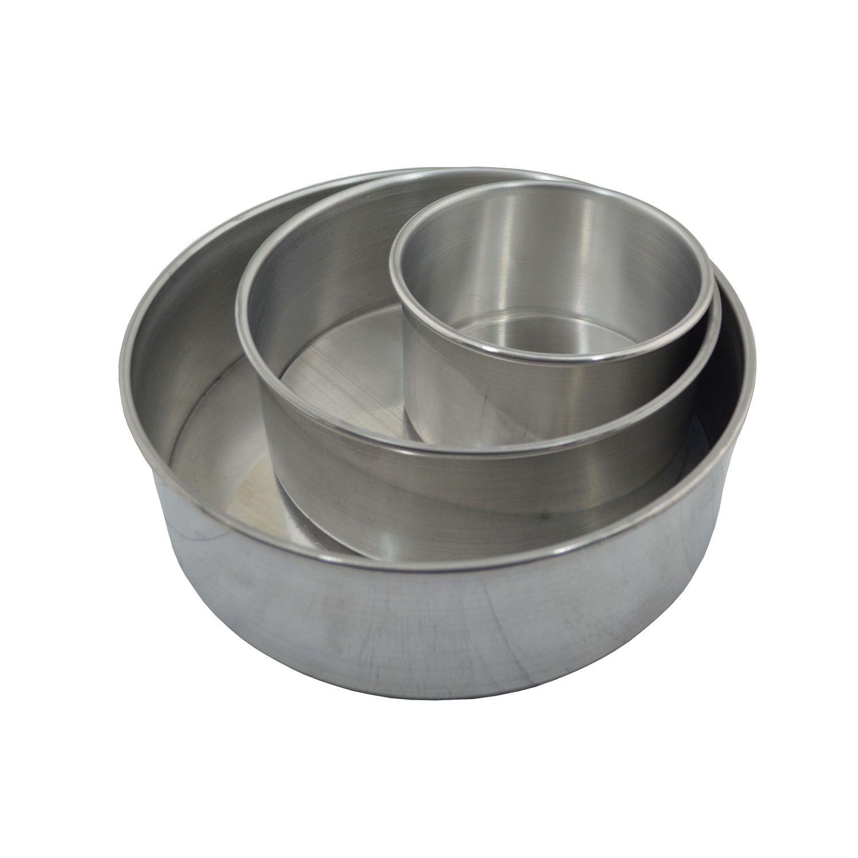 Kit Forma Bolo Assadeira Baixa Fundo Falso em Alumínio