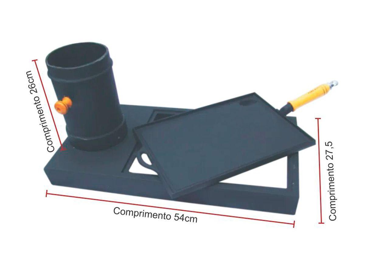 Kit Prático para Fogão de Lenha  em Ferro Fundido