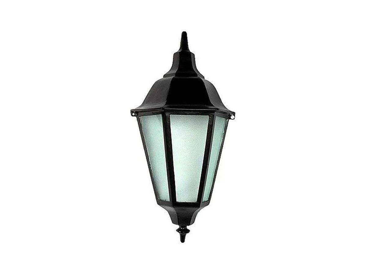 Luminária Colonial Meia Cara Italiana em Alumínio e Vidro