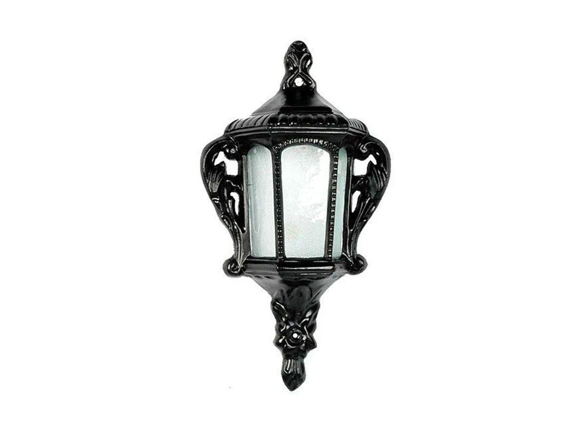 Luminária Colonial Meia Cara Veneza em Alumínio e Vidro