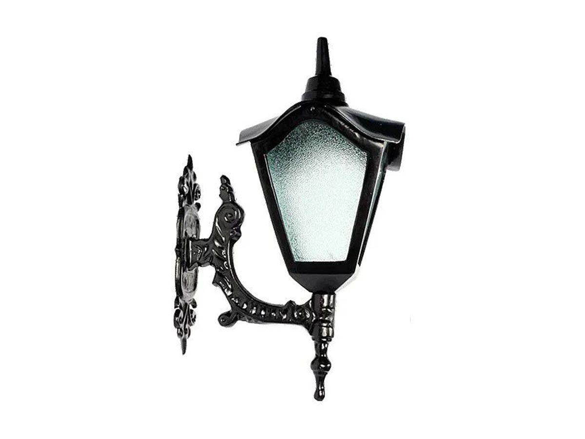 Luminária Colonial Romana Menor com Braço em Alumínio 47cm