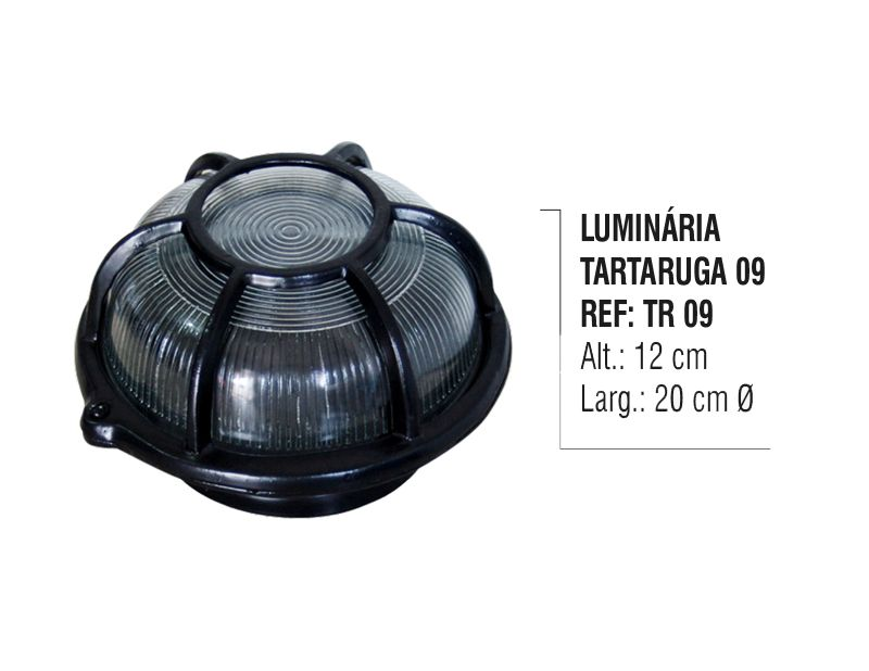 Luminária Colonial Tartaruga Parede Teto Chão Alumínio N09