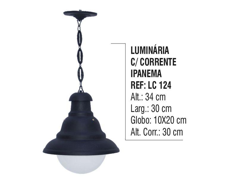 Luminária Externa e Interna Ipanema com Corrente em Alumínio