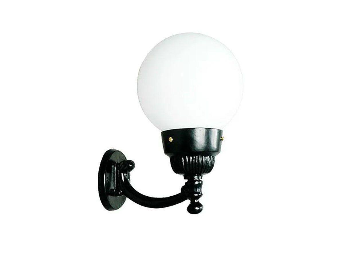 Luminária Globo Pequena 2 com Braço Externa/interna Alumínio 31cm