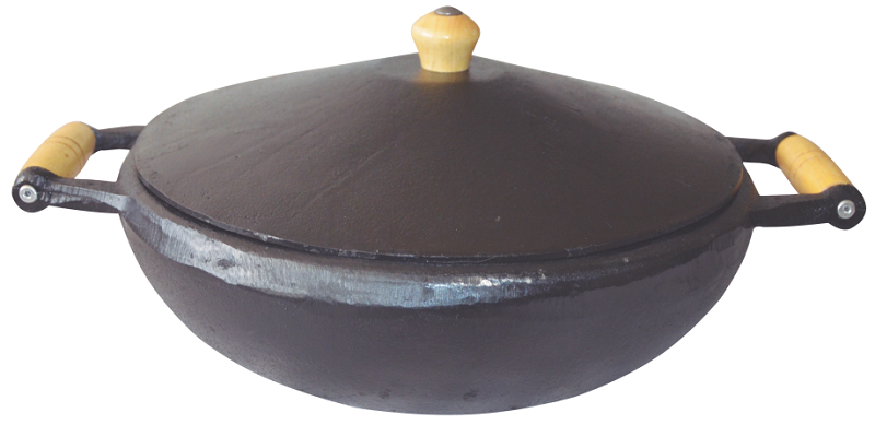 Panela Ferro Fundido Muqueca Pequena 2 Litros 37x28x11,5cm