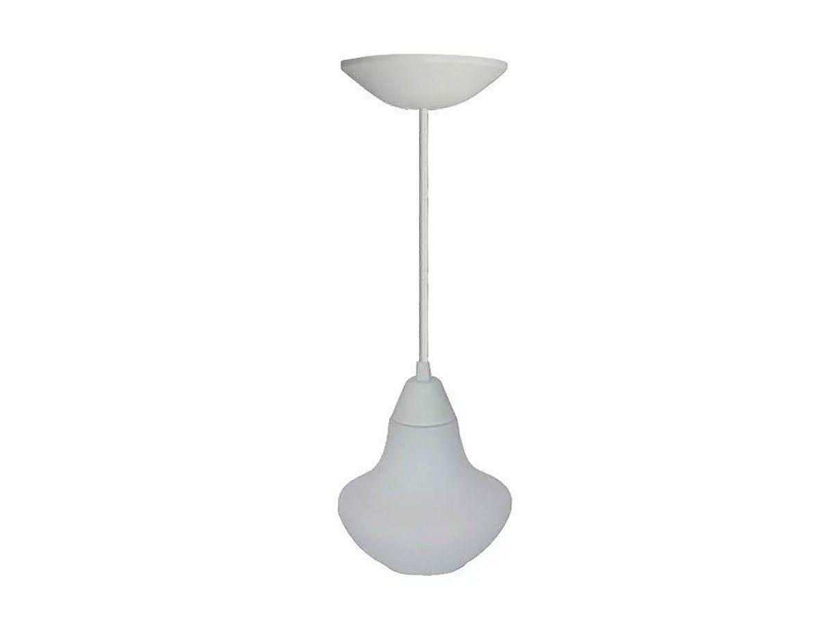 Pendente Lustre Luminária de Teto Denver Plástico e Vidro