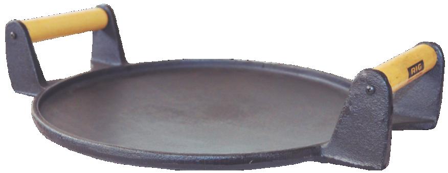 Picanheira De Ferro Fundido Com 2 Alças - 34cm De Largura