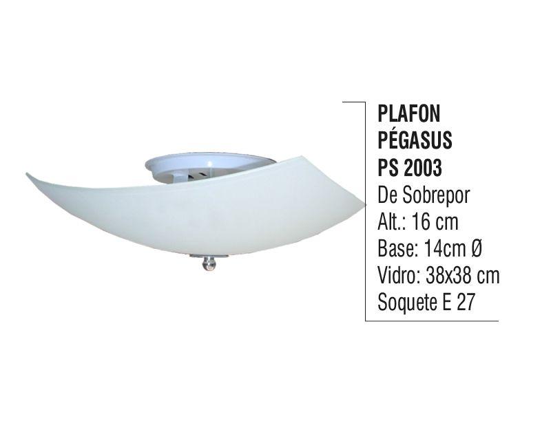 Plafon para Teto Parede Pégasus de Sobrepor Alumínio e Vidro