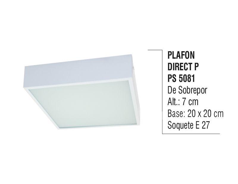 Plafon Teto Parede Direct P de Sobrepor Alumínio e Vidro