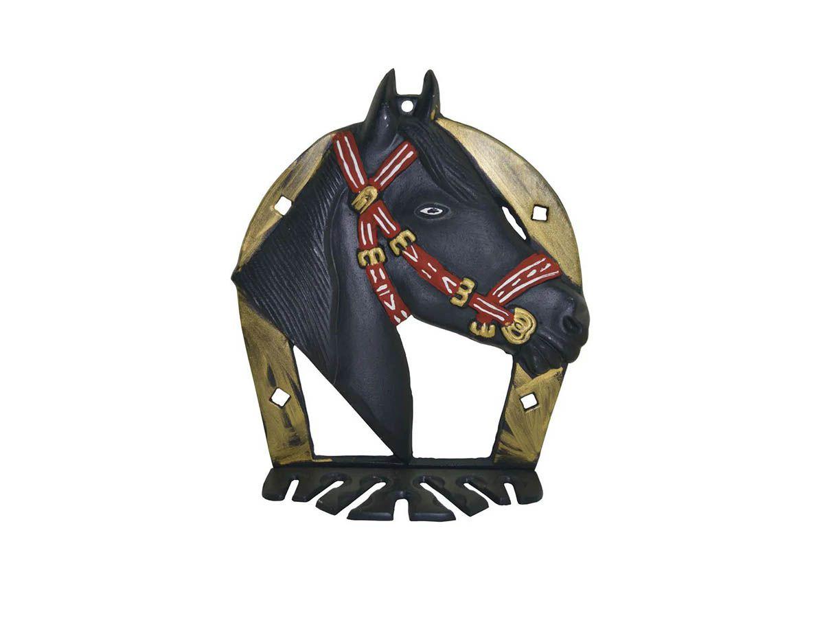 Porta Espeto em Alumínio Fundido Modelo Cavalo