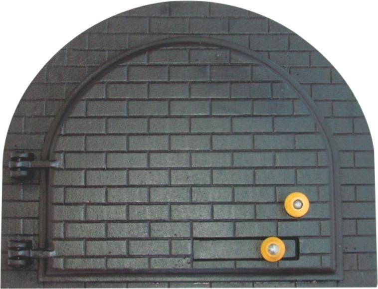 Porta Forno Ferro Fundido Igloo - Tamanho 42x53cm