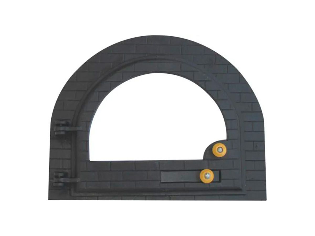 Porta Forno Ferro Fundido Igloo Vidro - Tamanho 42x53cm