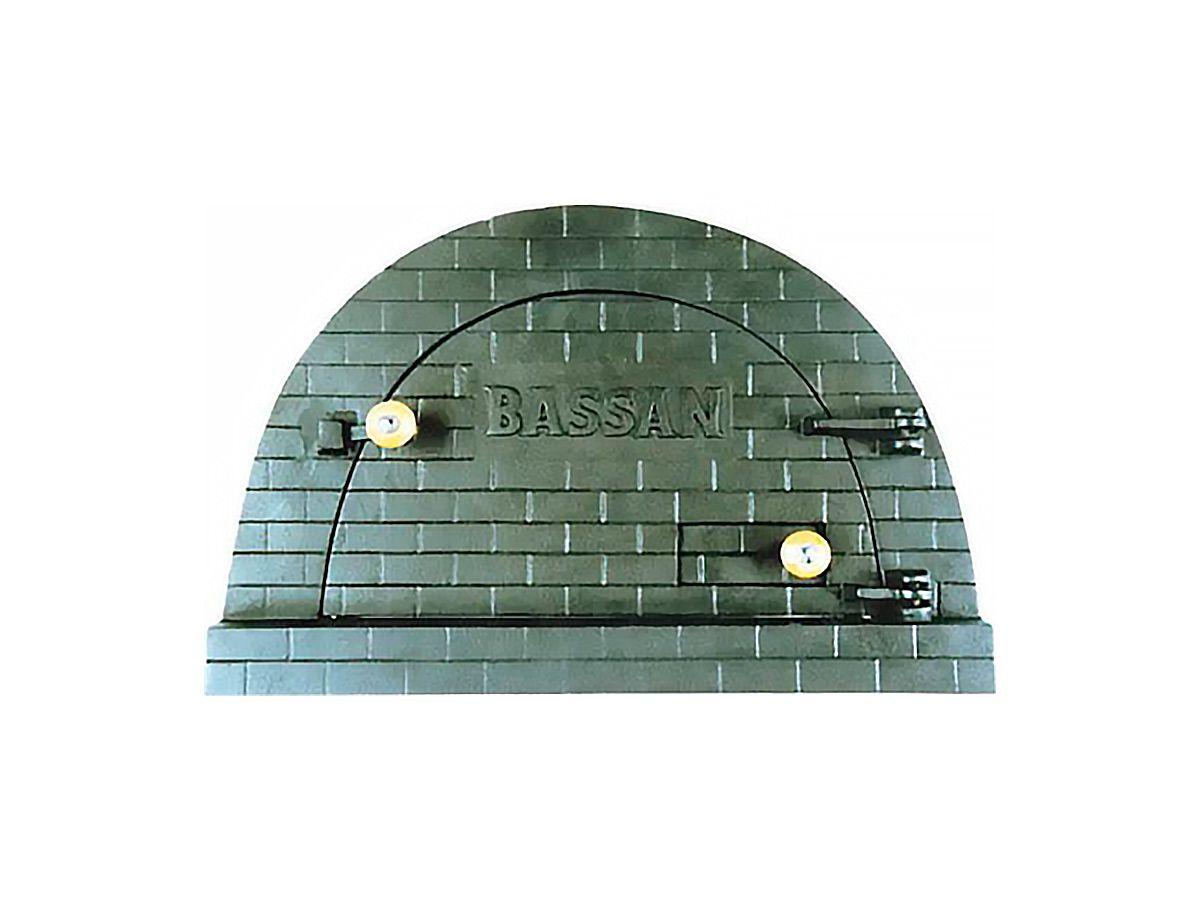 Porta Forno Ferro Fundido P/ Pizza Bassan 37x53,5cm