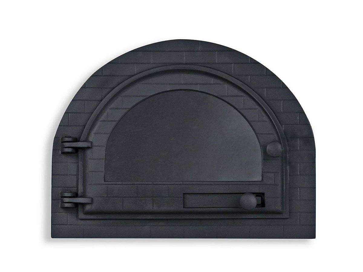Porta Forno Ferro Igloo Com Vidro Libaneza Art Mil M