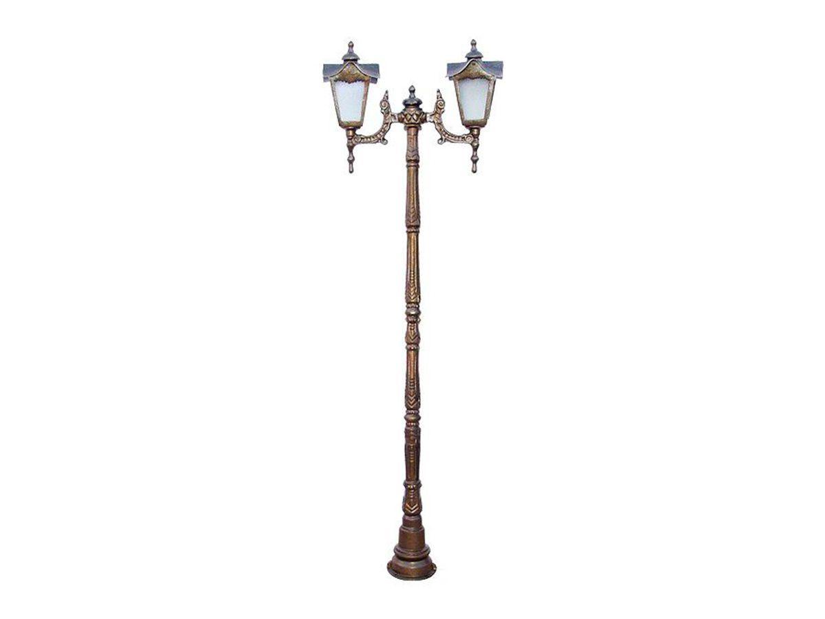 Poste Colonial Madri para Jardim Alumínio 02 Luminária 1,71m