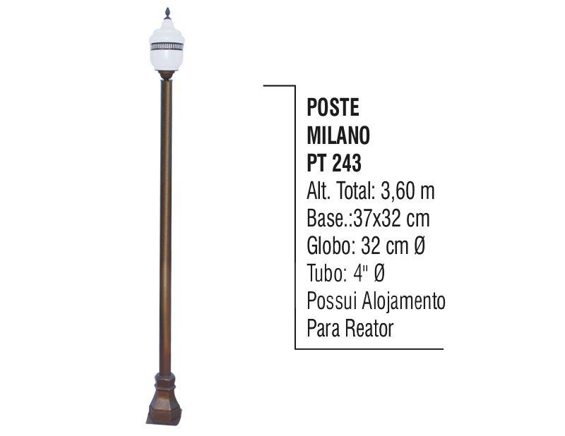 Poste Colonial Milano para Jardim de Alumínio 3,60m