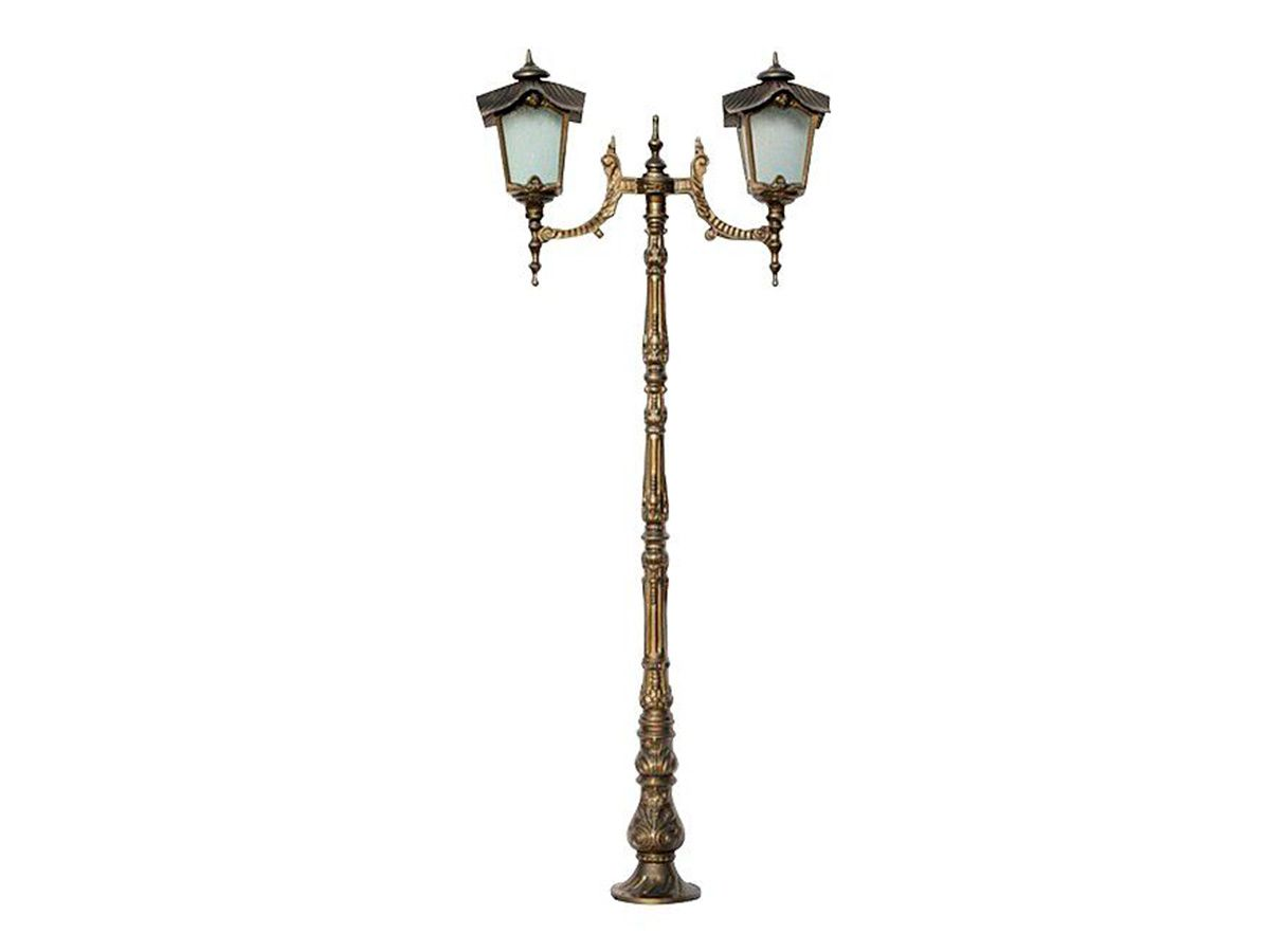 Poste Colonial Porto para Jardim Alumínio 02 Luminária 2,15m