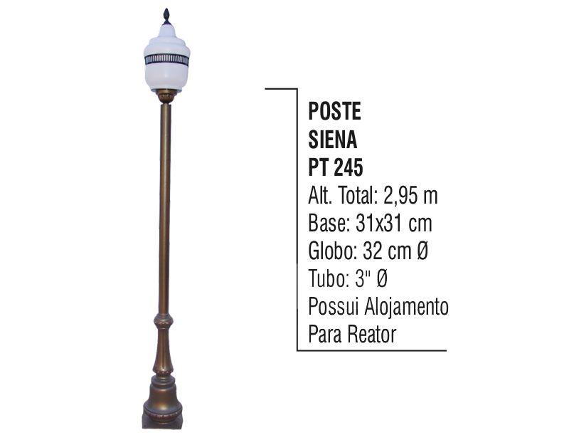 Poste Colonial Siena para Jardim de Alumínio 2,95m