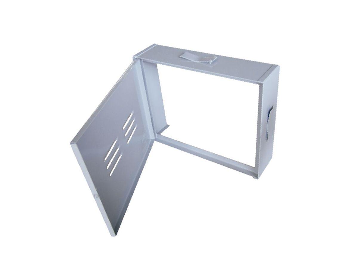 Proteção Hidrômetro Chapa Fechada Com Porta 30x40cm