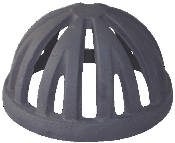 Ralo Semi Esférico Tipo Abacaxi 100mm Diâmetro 4 Polegadas