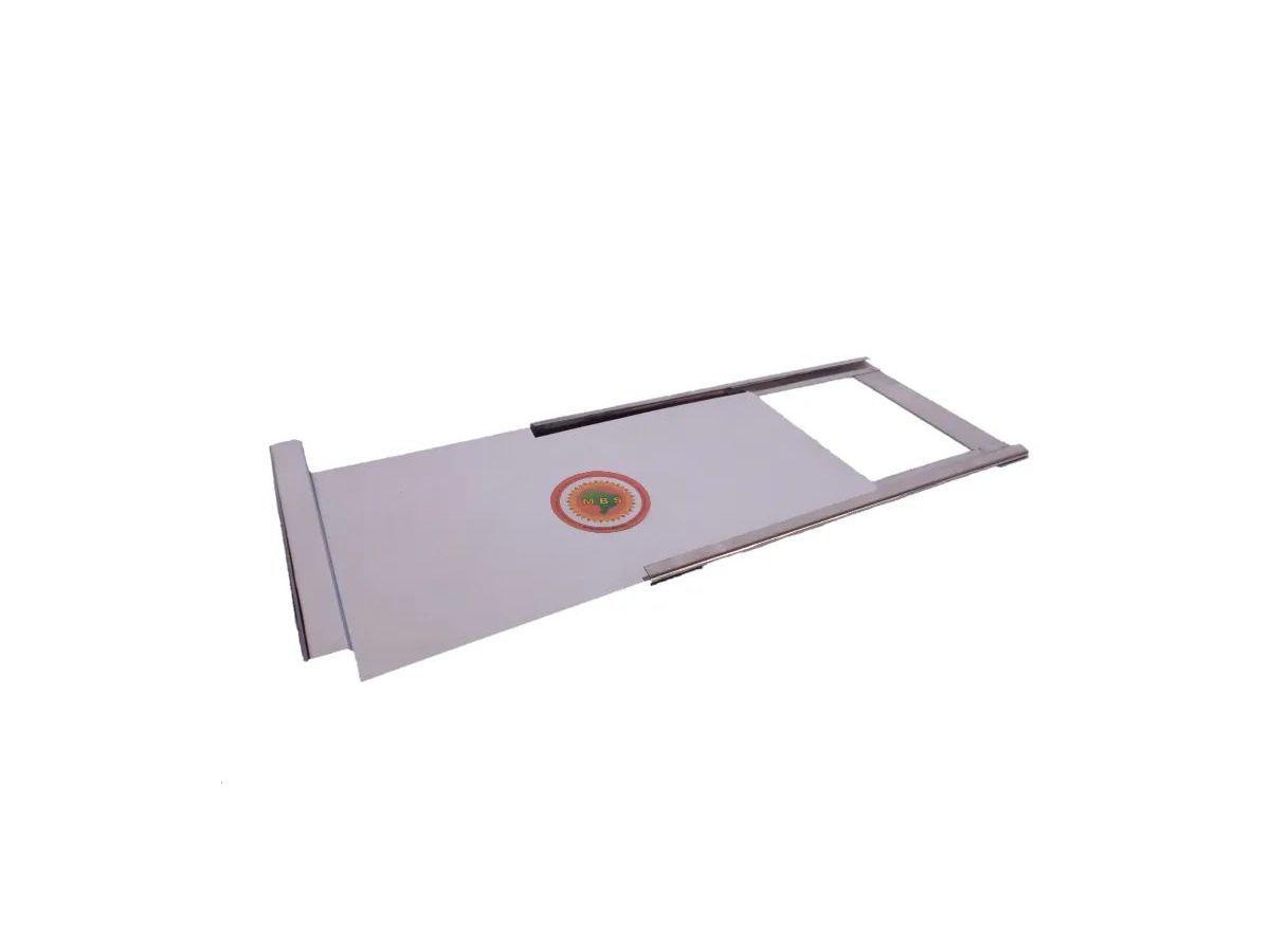 Registro Para Fogão A Lenha Em Chapa De Inox 0,10mm 25x15cm