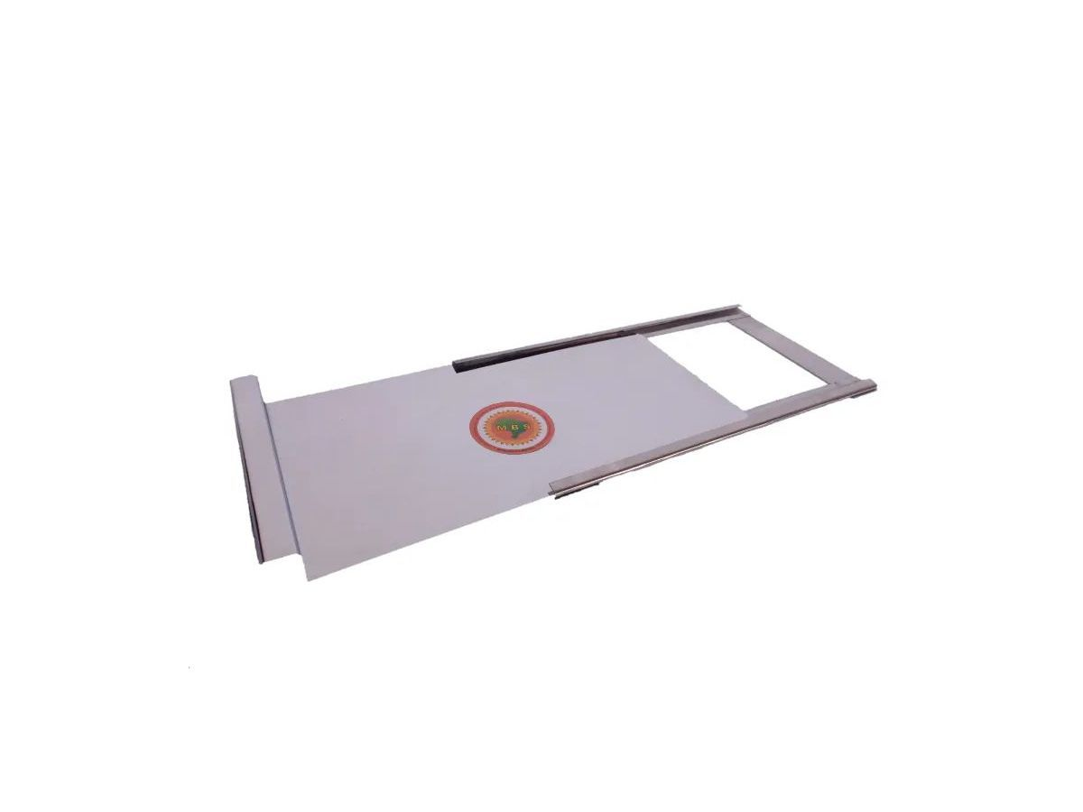 Registro Para Fogão A Lenha Em Chapa De Inox 0,20mm 30x23cm