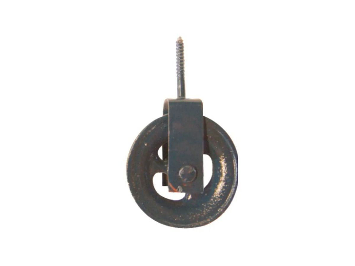 Roldana para Varal em Ferro Fundido Cinzento Grande