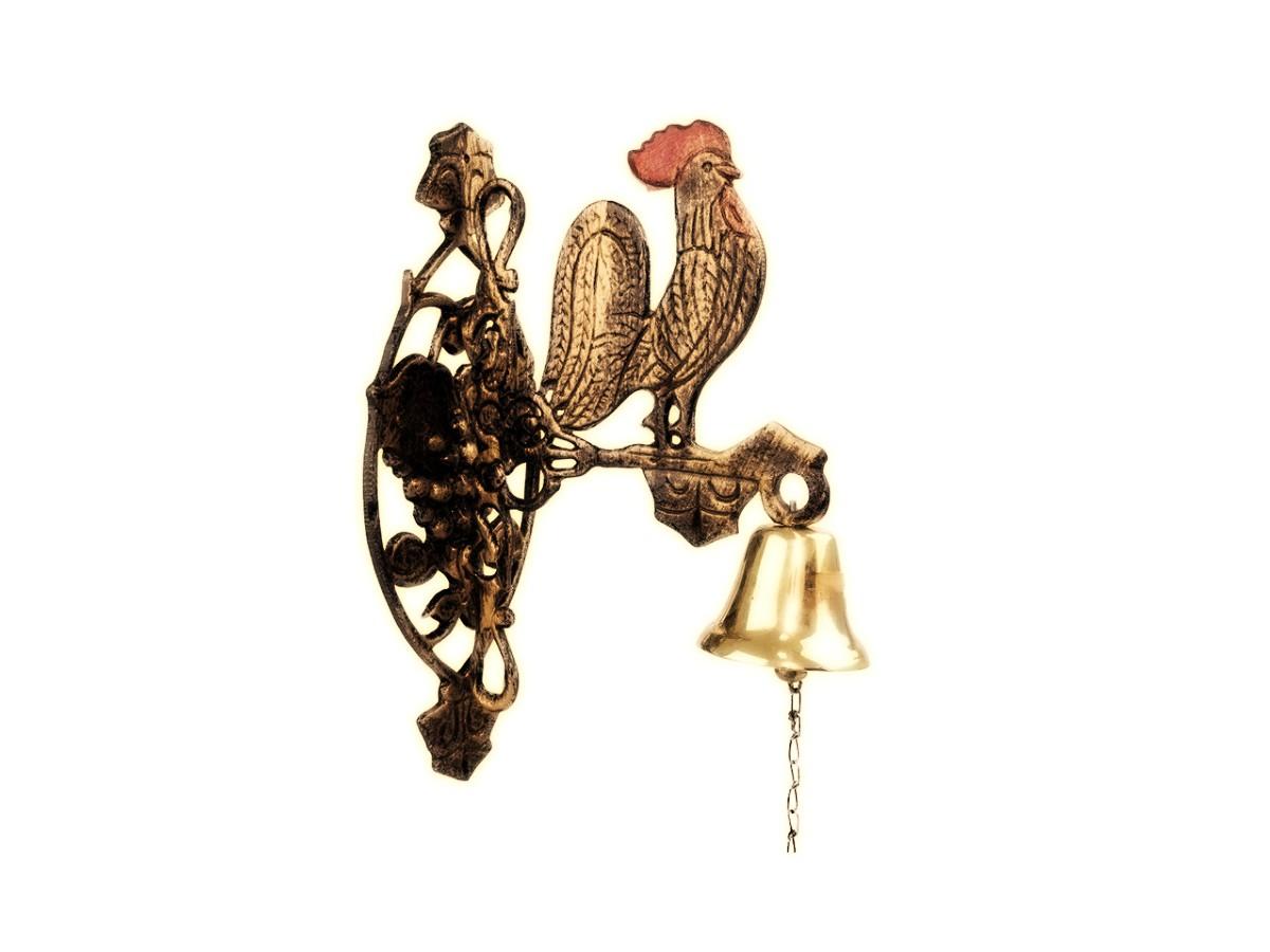 Sineta (sino) Bronze Parede Modelo Galo Vento Colonial Mëdio